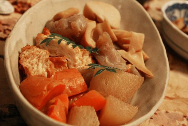 根菜と葉竹の煮しめ