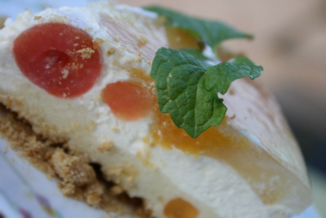 フルーツたっぷり☆ヘルシーチーズケーキ