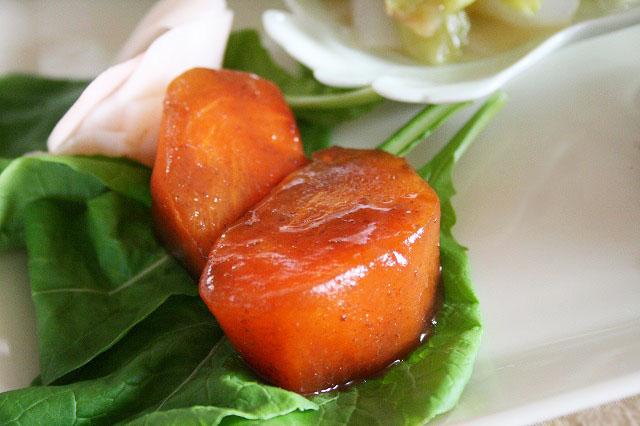 柿の味噌漬け